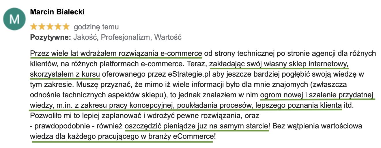 opinia o kursie estrategie.pl