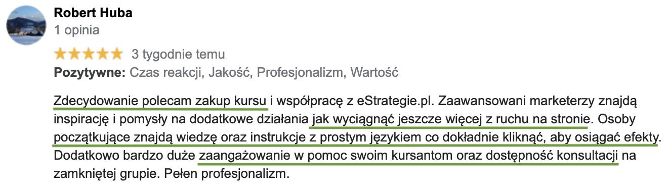 opinie o kursie online estrategie.pl