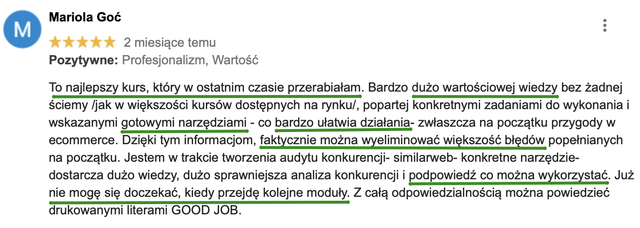 estrategie.pl opinia o kursie online dla e-commerce